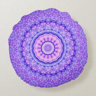 Fusion of Light Mandala Round Pillow