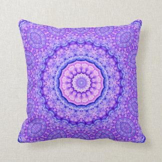Fusion of Light Mandala Throw Pillow