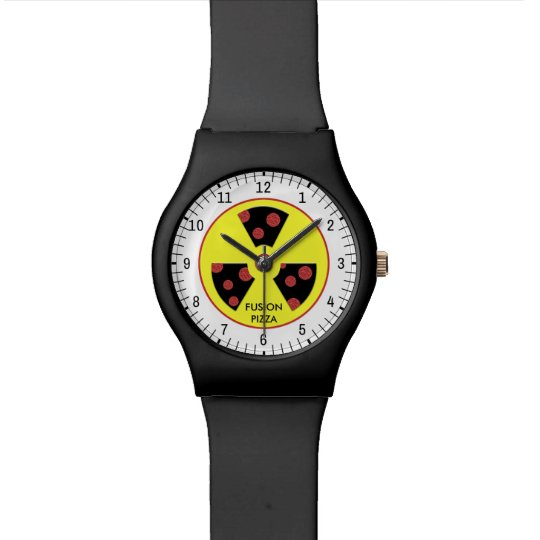 Fusion Pizza Wrist Watches