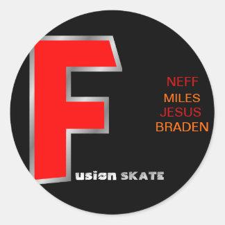 fusion skate team sticker
