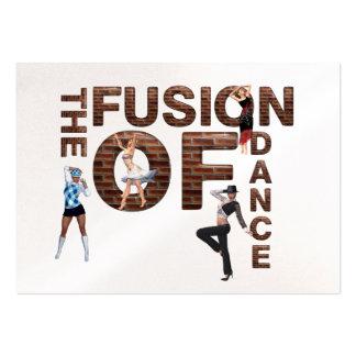 Fusion SUPÉRIEURE de danse Cartes De Visite Personnelles