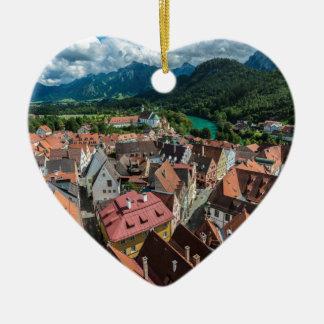 Fussen - Bavaria - Germany Ceramic Heart Ornament