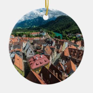 Fussen - Bavaria - Germany Round Ceramic Ornament