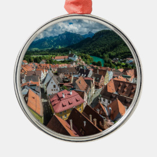 Fussen - Bavaria - Germany Silver-Colored Round Ornament