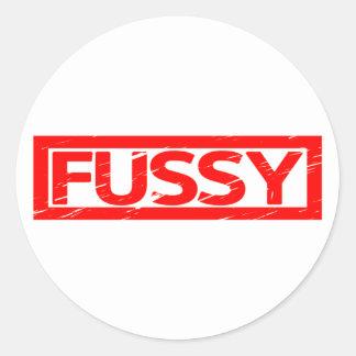 Fussy Stamp Classic Round Sticker