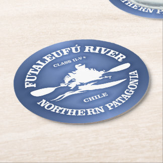 Futaleufu (kayak) round paper coaster