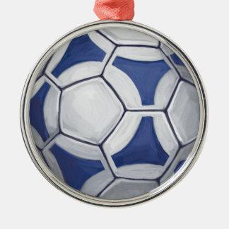 Futbal Ornement Rond Argenté