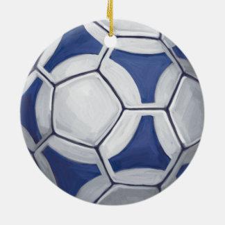 Futbal Ornement Rond En Céramique