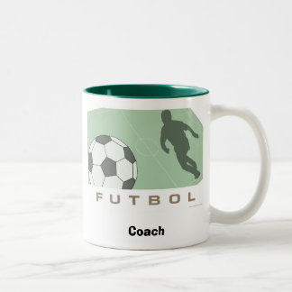 Futbol, Soccer Coach Two-Tone Coffee Mug