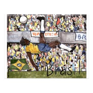Futebol do Brasil Postcard
