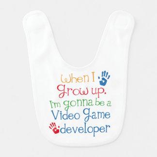 Futur bavoir de bébé de promoteur de jeu vidéo