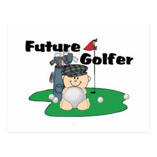 Futur golfeur carte postale