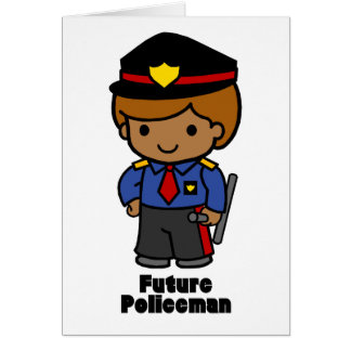 Futur policier - garçon cartes de vœux
