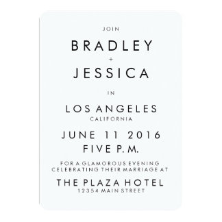 Futura Modern 5x7 Wedding Invitation