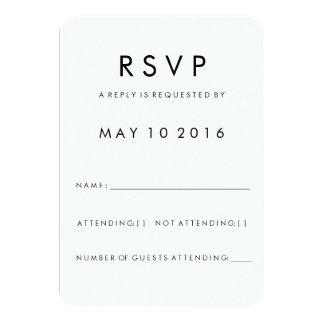 Futura Modern RSVP Card
