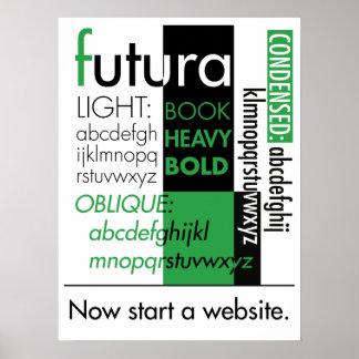 Futura Typography Poster