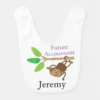 Future Accountant Personalized Baby Bib