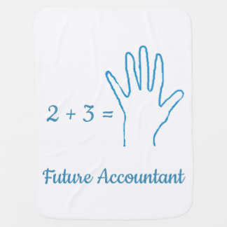 """Future Accountant"" with Simple Math Equation Baby Blanket"