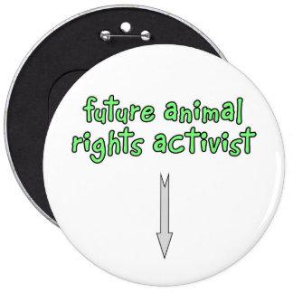 future animal rights activist 6 inch round button