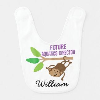 Future Aquatics Director Personalized Baby Bib