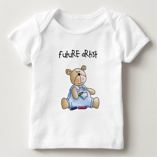 Future Artist Teddy Bear Baby T-Shirt