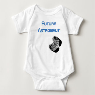 Future Astronaut Baby Bootprints Baby Bodysuit