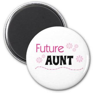 Future Aunt 2 Inch Round Magnet
