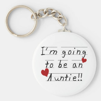 Future Auntie Kid Print Tshirts and Gifts Basic Round Button Keychain