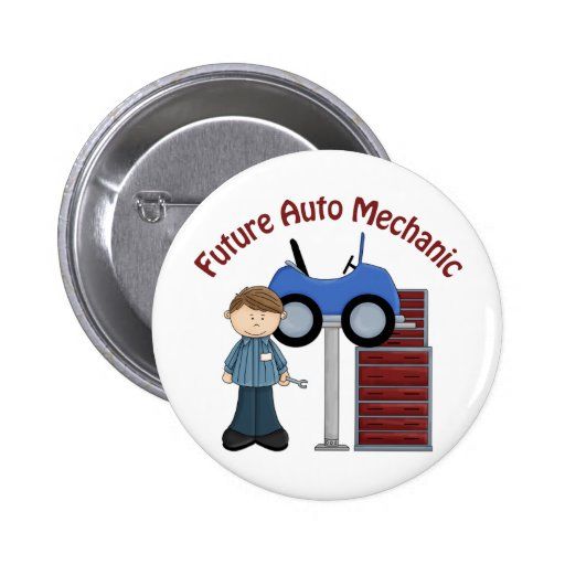 Future Auto Mechanic Gifts and Tees - Great Gift Button