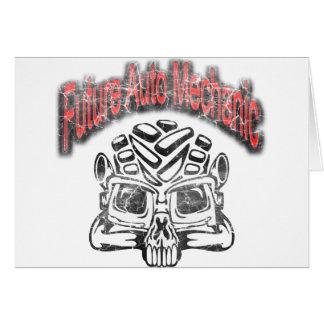 Future Auto Mechanic Skull Design Cards