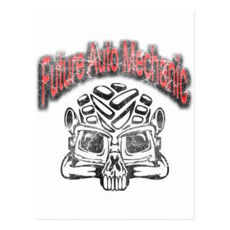 Future Auto Mechanic Skull Design Postcard