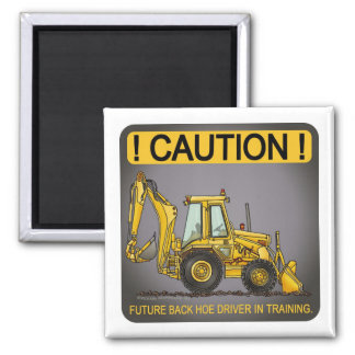 Future Backhoe Driver Magnet