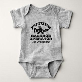 Future Backhoe Operator Like My Grandpa Baby Bodysuit
