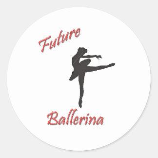 Future Ballerina Round Sticker