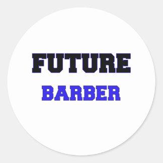 Future Barber Classic Round Sticker