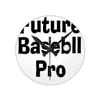 Future Baseball Pro Round Clock