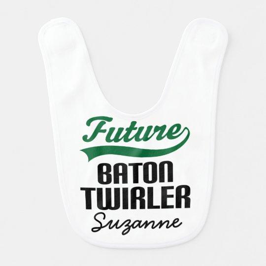 Future Baton Twirler Personalized Baby Bib