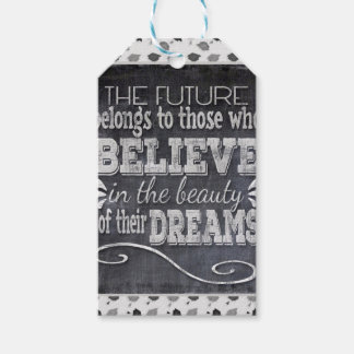 Future Belong, Believe in the Beauty Dreams, Black Gift Tags