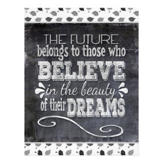 Future Belong, Believe in the Beauty Dreams, Black Letterhead