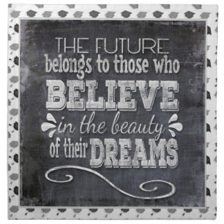 Future Belong, Believe in the Beauty Dreams, Black Napkin