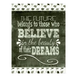 Future Belong, Believe in the Beauty Dreams, Green Letterhead
