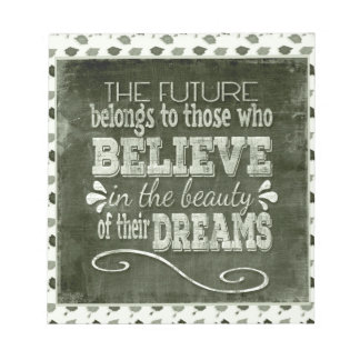 Future Belong, Believe in the Beauty Dreams, Green Notepad