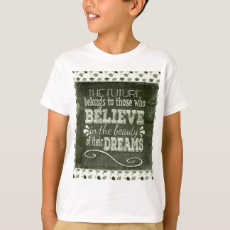 Future Belong, Believe in the Beauty Dreams, Green T-Shirt