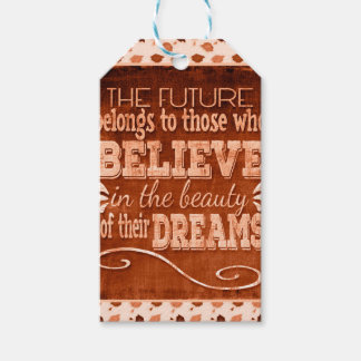 Future Belong, Believe in the Beauty Dreams, Orang Gift Tags