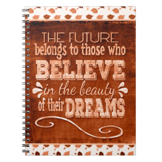 Future Belong, Believe in the Beauty Dreams, Orang Spiral Notebook