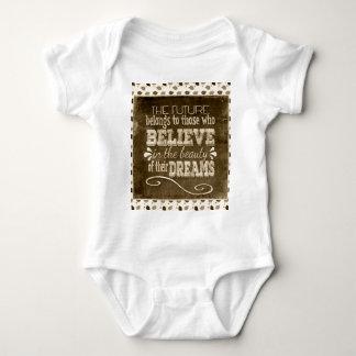 Future Belong, Believe in the Beauty Dreams, Sepia Baby Bodysuit