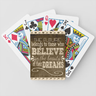 Future Belong, Believe in the Beauty Dreams, Sepia Bicycle Playing Cards