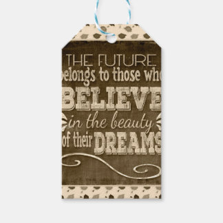 Future Belong, Believe in the Beauty Dreams, Sepia Gift Tags