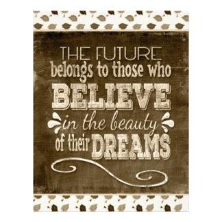 Future Belong, Believe in the Beauty Dreams, Sepia Letterhead