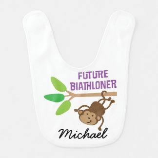 Future Biathloner Personalized Baby Bib